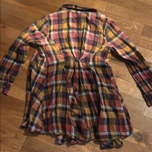 $bogo$ Soft Surroundings tunic flannel plaid large